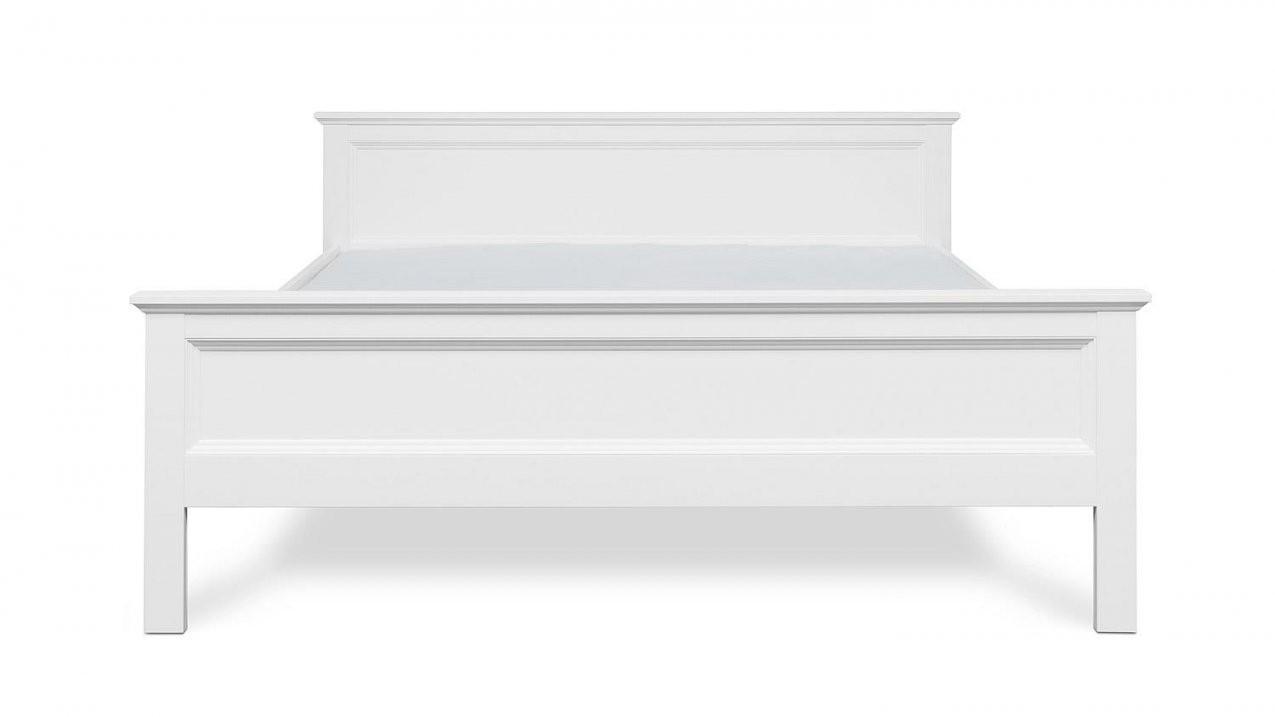 Bett Landwood Bettgestell In Weiß Mit Kopfteil 180X200 Cm Landhausstil von Bett Landhausstil Weiß 180X200 Bild