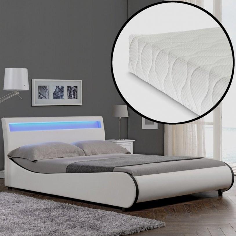 Bett Mit Led 140×200 Neu Led Modernes Polsterbett Matratze 140X200Cm von Led Bett Mit Matratze Photo