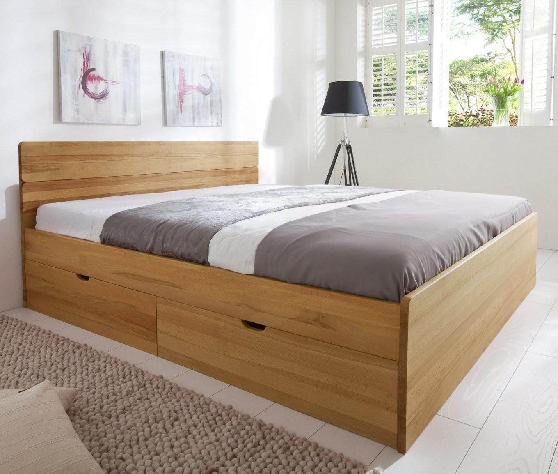 Bett Mit Schubkästen In Der Größe 180X200Cm  Finnland von Polsterbett 180X200 Mit Bettkasten Komforthöhe Bild