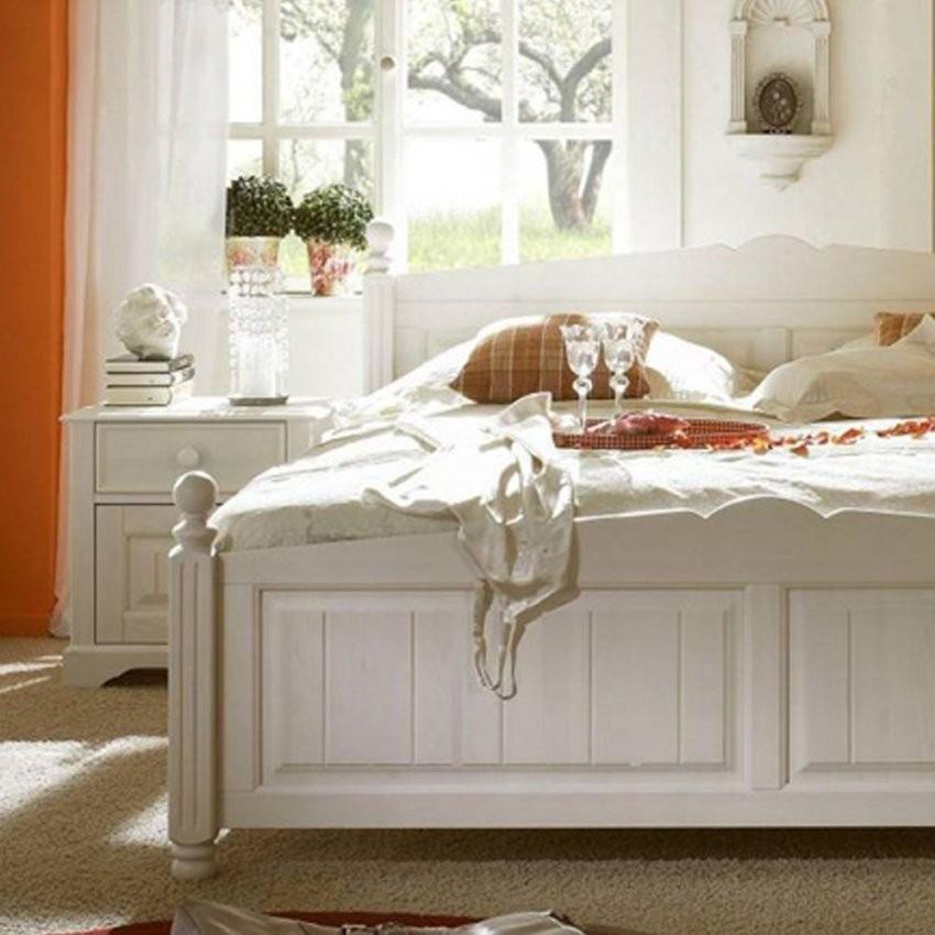 Bett & Nachtkommoden Alpina In Weiß  Pharao24 von Bett Landhausstil Weiß 180X200 Bild