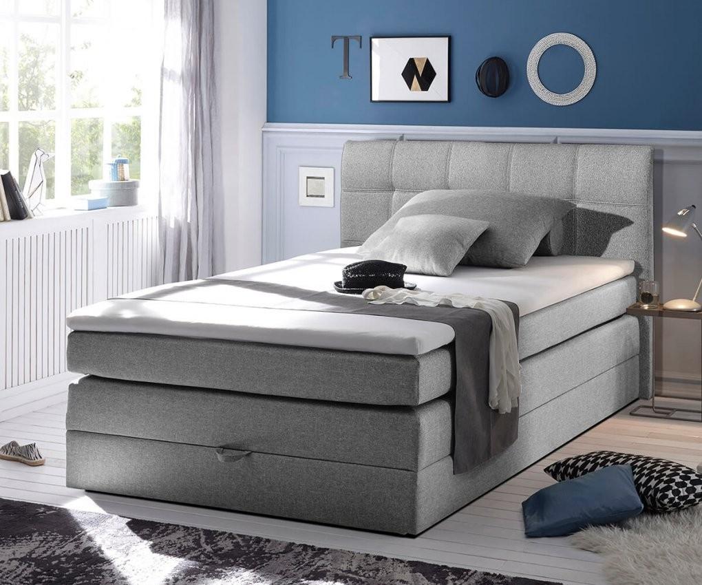 Bett Neptuno Grau 140X200 Cm Matratze Topper Federkern Bettkasten von Bett 140X200 Mit Matratze Günstig Photo