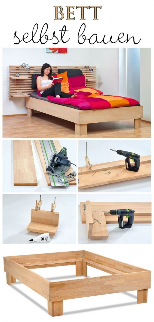 Bett Selber Bauen  Woodworking And Tools  Pinterest  Bed Bed von Bettgestell 140X200 Selber Bauen Photo