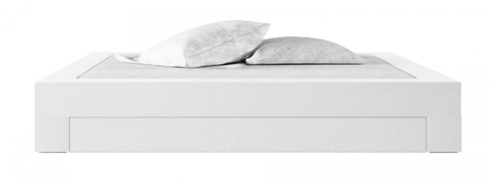 Bett Somnium Mit Bettkasten – Designbett Von Rechteck von Bett 140X200 Weiß Hochglanz Photo