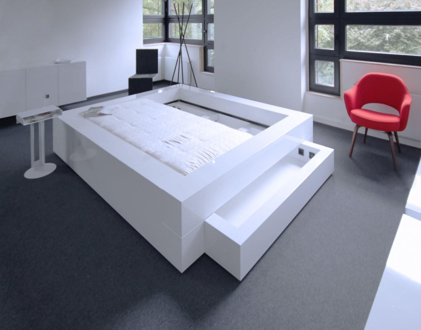 Bett Somnium Mit Bettkasten – Designbett Von Rechteck von Bett Mit Bettkasten 180X200 Weiß Photo