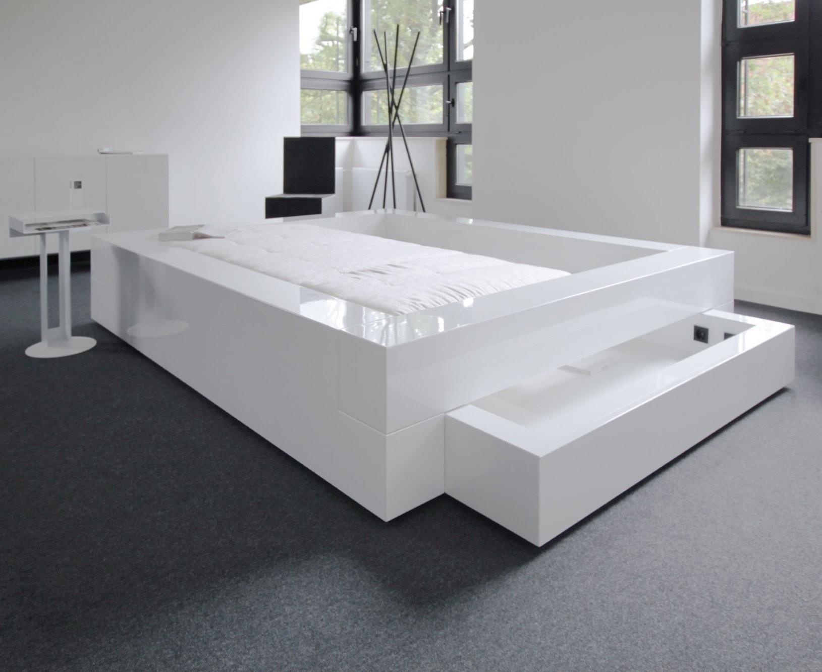 Bett Somnium Mit Bettkasten – Designbett Von Rechteck von Bett Mit Bettkasten 200X200 Bild