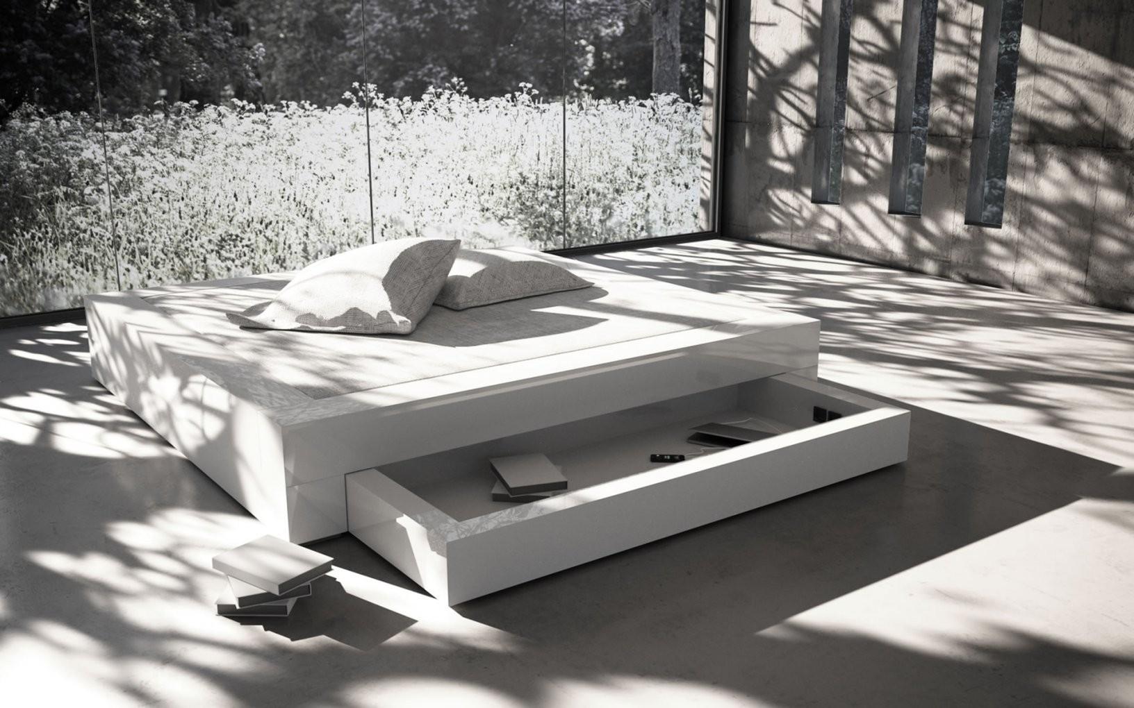 Bett Somnium Mit Bettkasten – Designbett Von Rechteck von Designer Bett 200X200 Photo