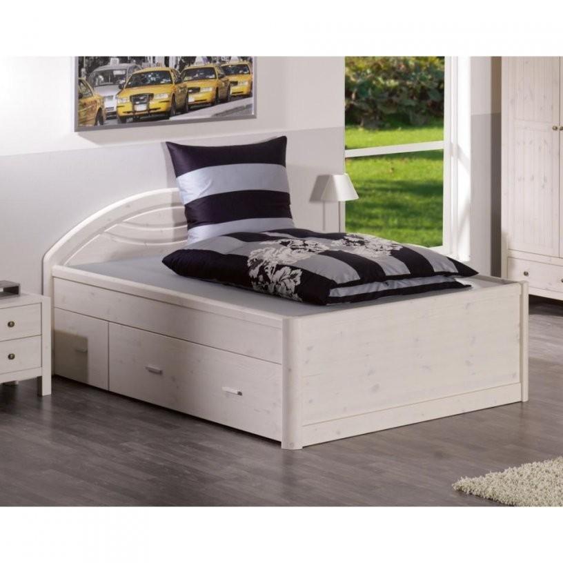 Bett Tina (180X200 Weiß Lackiert)  Dänisches Bettenlager von Weißes Bett 180X200 Bild