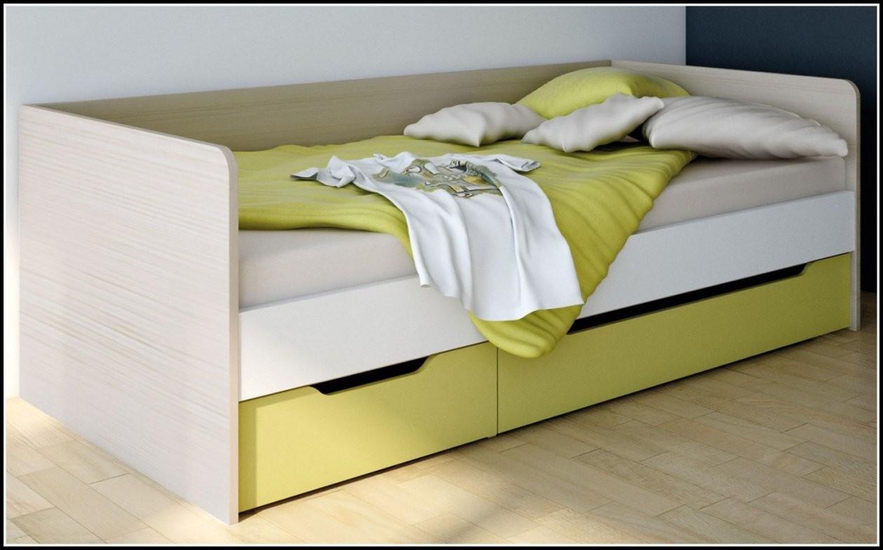 Bett Weis 100X200 Mit Schubladen  Betten  House Und Dekor Galerie von Bett Mit Schubladen 100X200 Bild