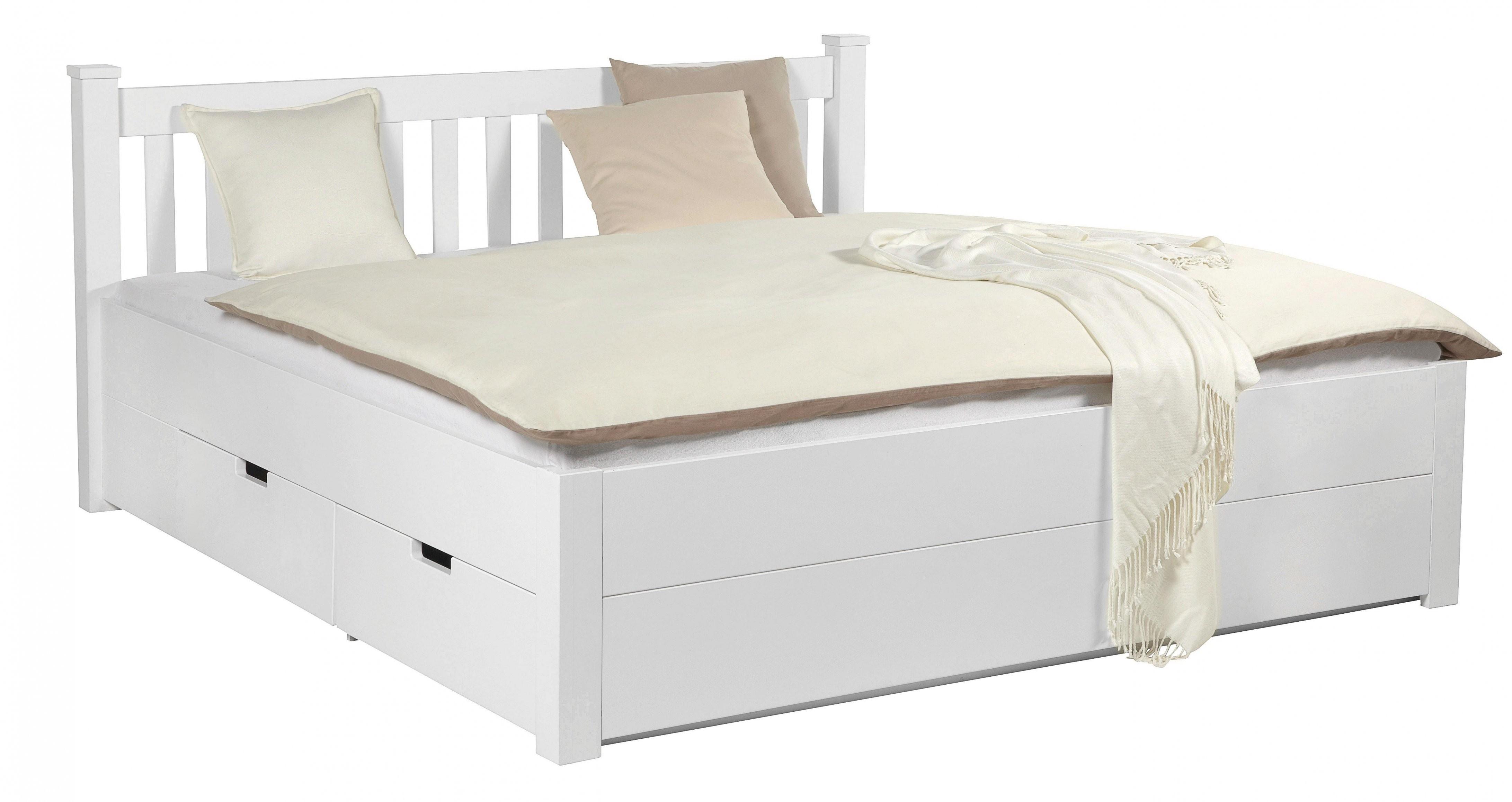 Bett Weiß 180X200Cm Online Kaufen ➤ Mömax von Mömax Betten 180X200 Bild