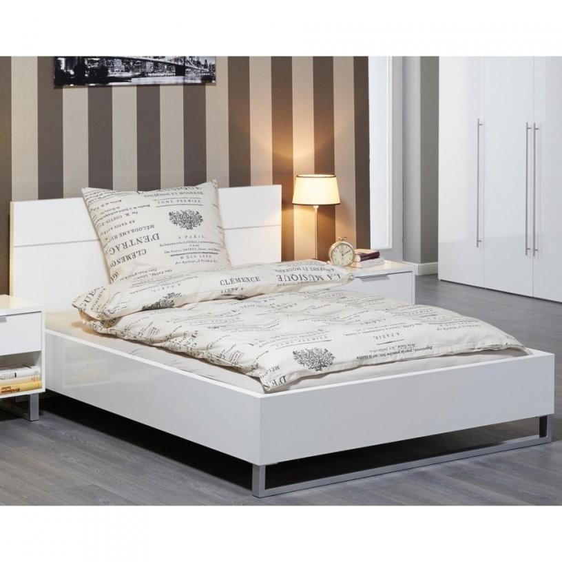 Bett White (180X200 Hochglanz Lackiert Weiß)  Dänisches Bettenlager von Bett 180X200 Weiß Hochglanz Photo