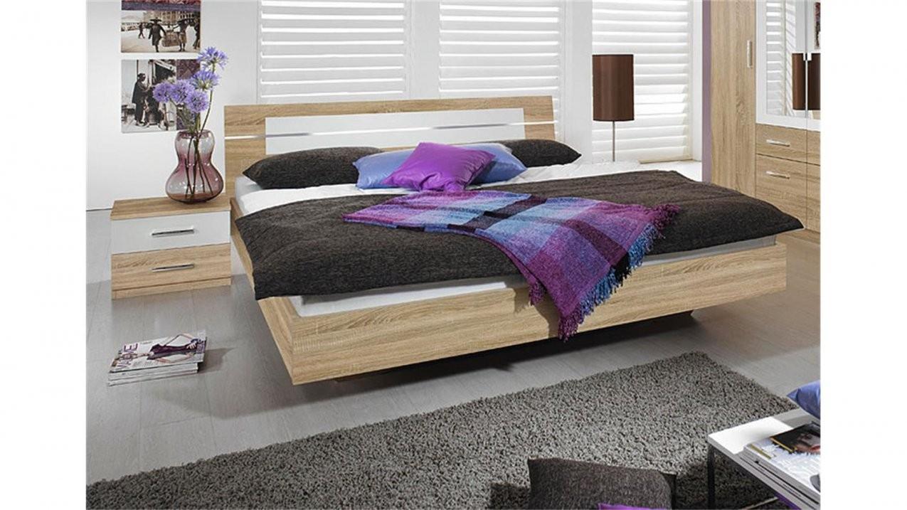 Bettanlage Burano Bett In Sonoma Eiche Und Weiß 180X200 von Bett Sonoma Eiche 180X200 Bild