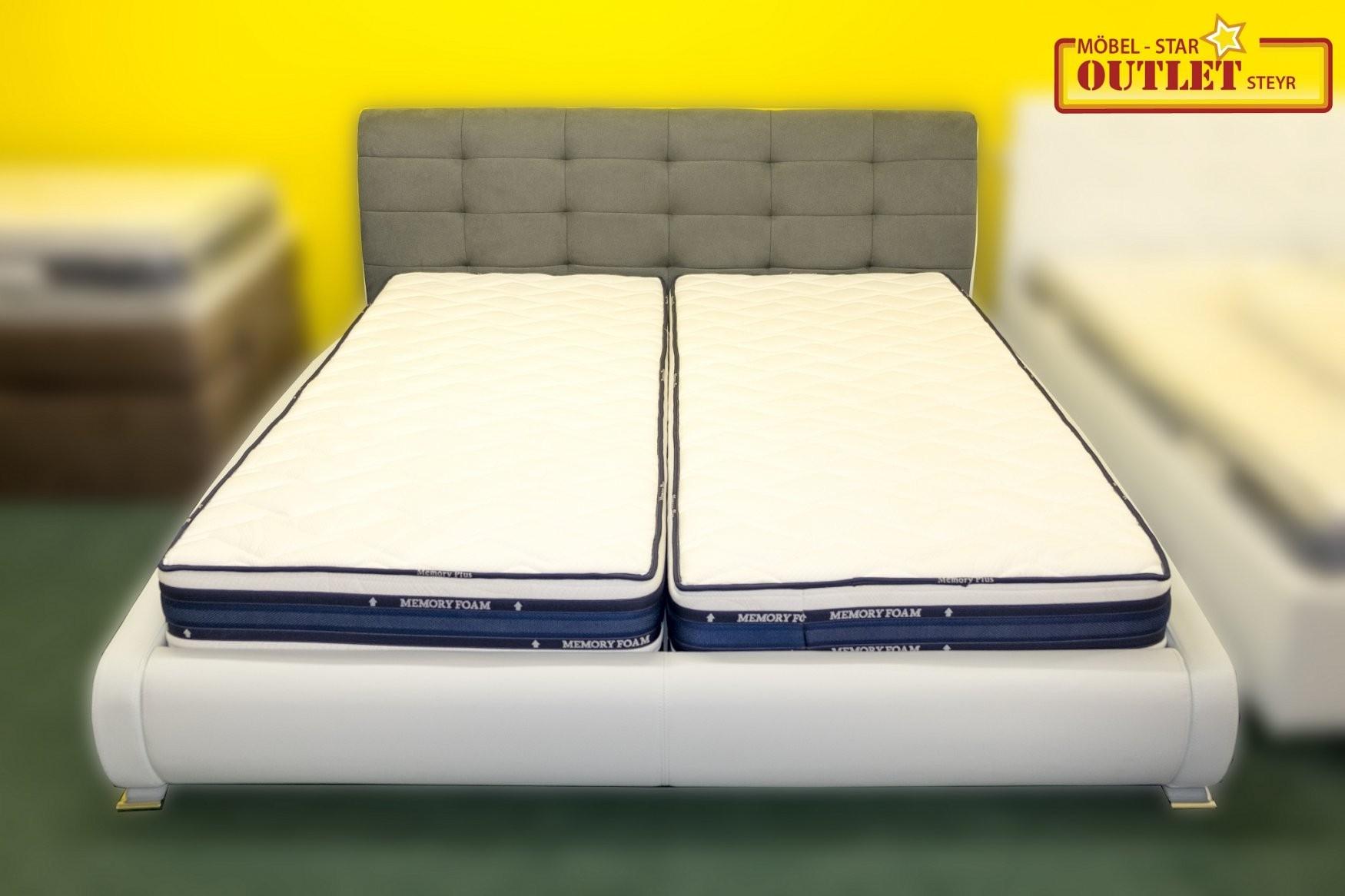 Betten  Grau Weißes Bett Inkl Lattenrost Und Matratzen von Bett Inklusive Lattenrost Und Matratze Photo