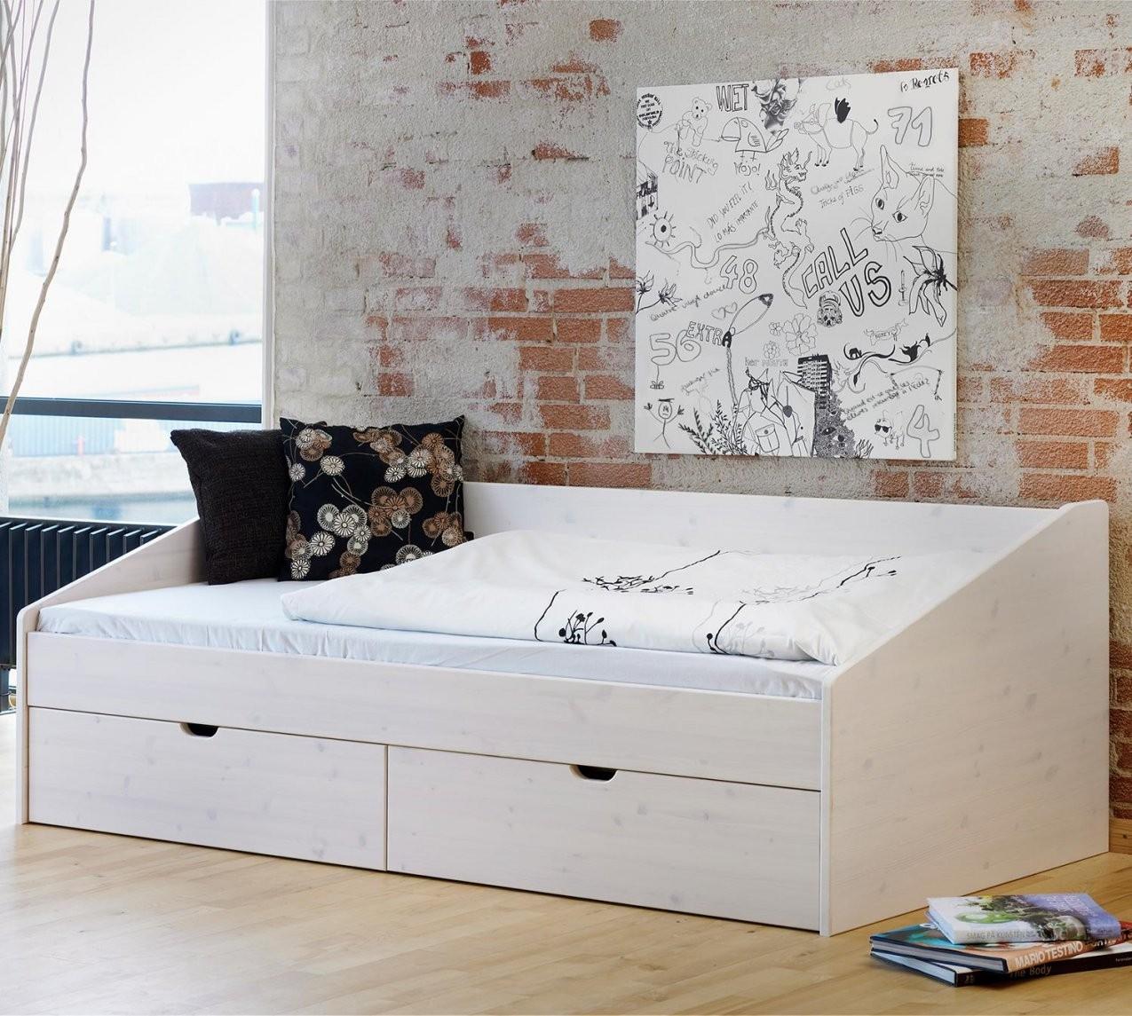 Betten Mit Stauraum  Stauraumbetten Günstig Kaufen  Betten von Bett 120X200 Weiß Holz Photo
