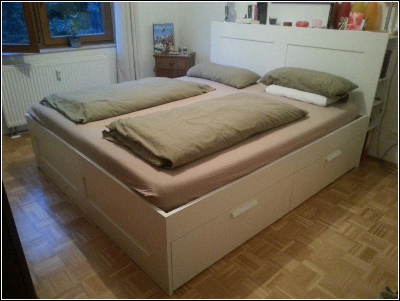 Bettgestell Hoch Atemberaubend Malm Bettgestell Hoch 180X200 Cm Ikea von Bett 180X200 Hoch Photo
