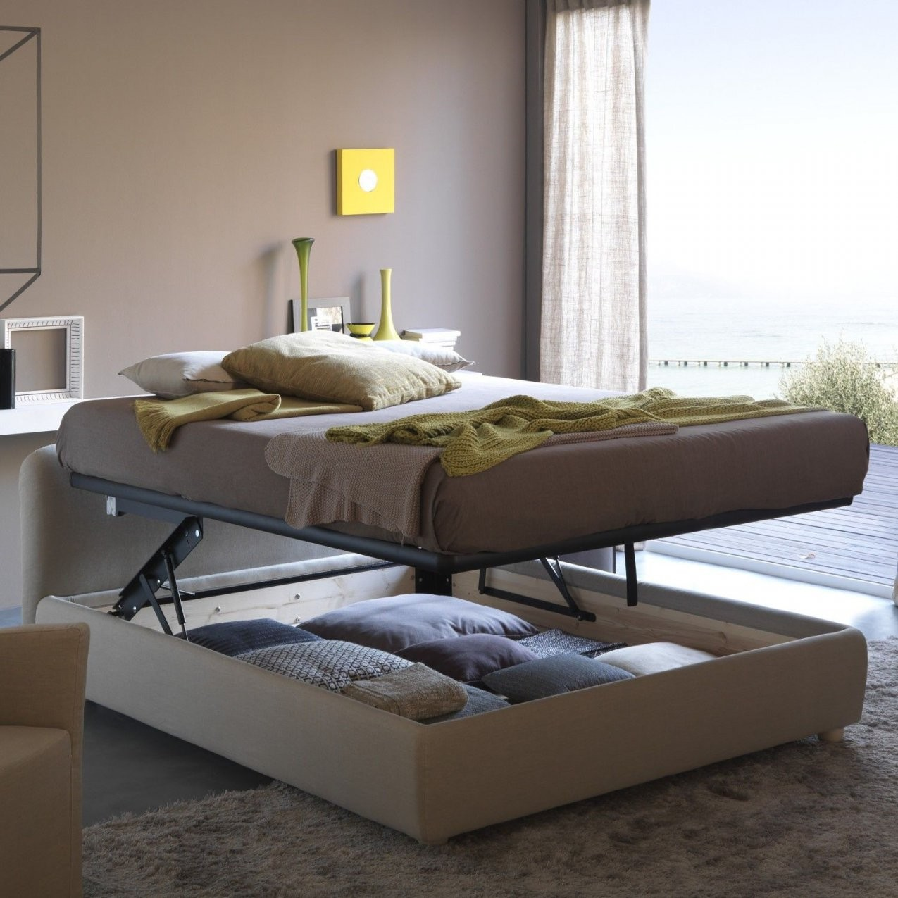 Billig Bett Mit Stauraum 180X200  Schlafzimmer  Pinterest  Bett von Bett 180X200 Mit Stauraum Bild