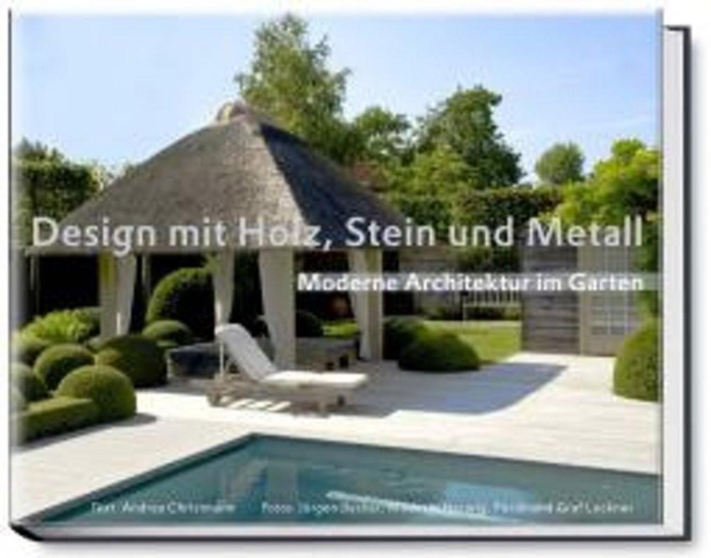 Bol  Design Mit Holz Stein Und Metall  Moderne Architektur Im von Garten Mit Holz Und Stein Photo