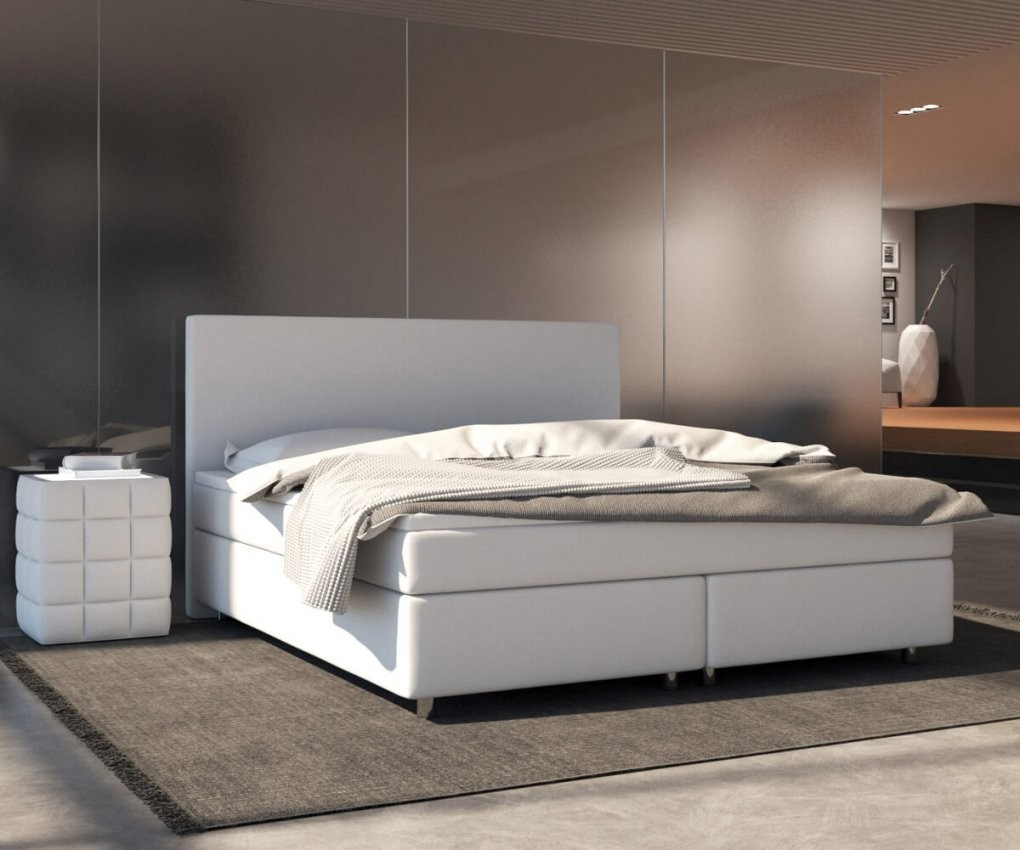 Boxspringbed Cloud 140X200 Cm Wit Topper En Matras Meubels Bedden von Boxspring Matratze 140X200 Photo