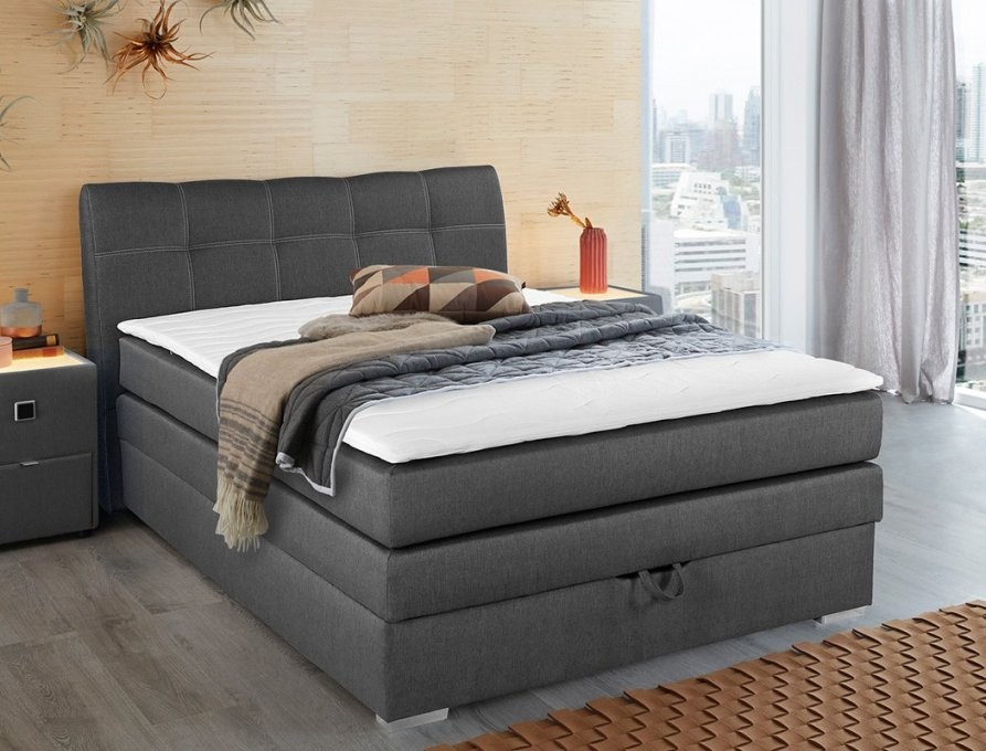 dilara boxspringbett st tropez box mit bettkasten 140x200 von boxspringbett mit bettkasten. Black Bedroom Furniture Sets. Home Design Ideas