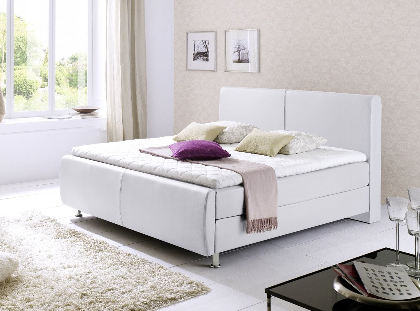 Boxspringbett Amondo Amadeo Braun  160Cm X 200Cm von Boxspring Bett Weiß 160X200 Photo