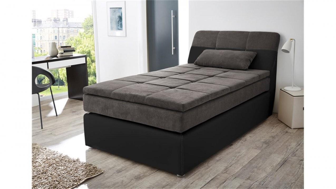 Boxspringbett Odessa Bett In Schwarz Grau Mit Topper 120X200 von Bett 120X200 Schwarz Photo