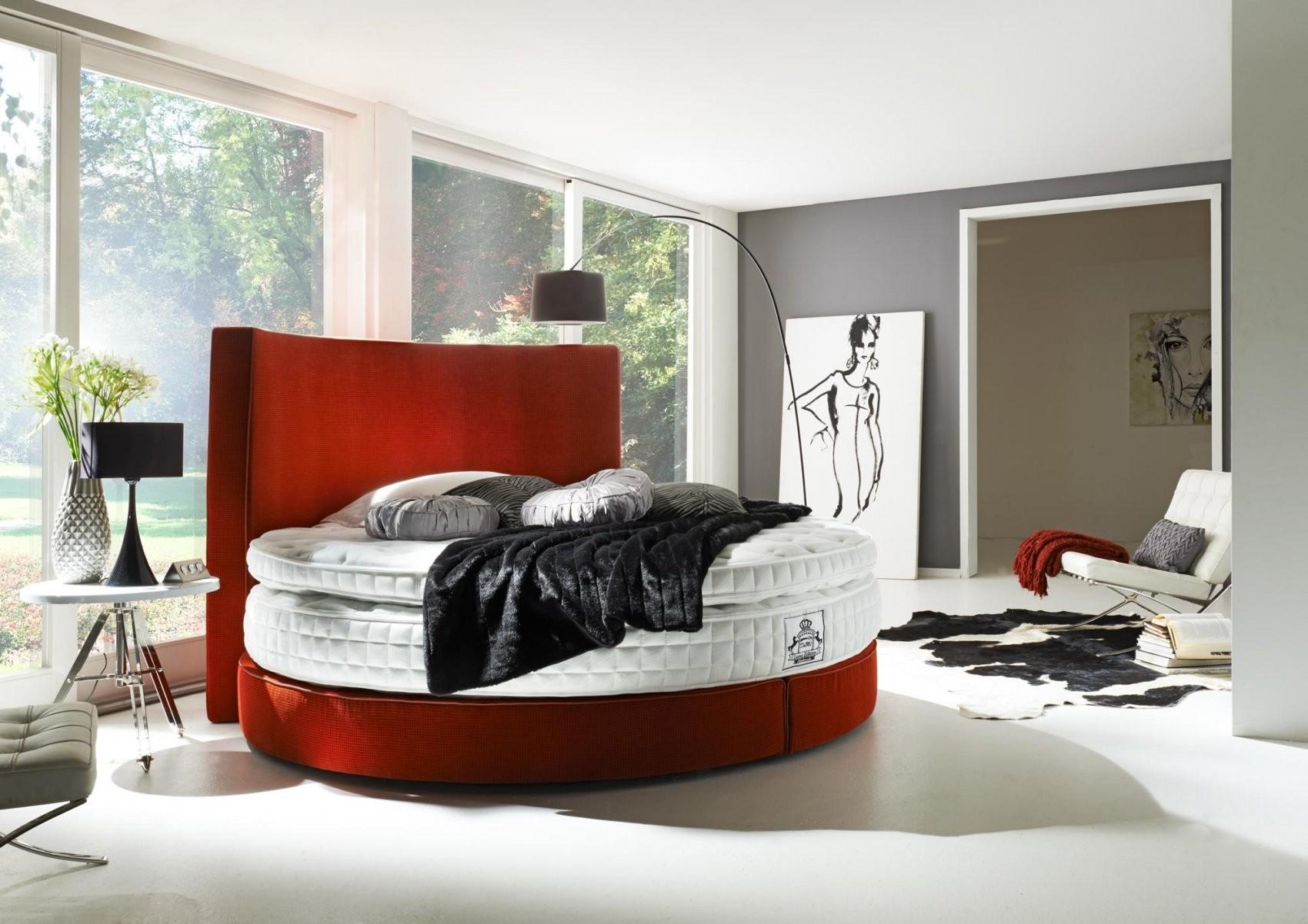 """Boxspringbett """"rondo"""" Liegefläche Rund 225 Cm In Vielen Farben von Boxspring Bett Kaufen Bild"""