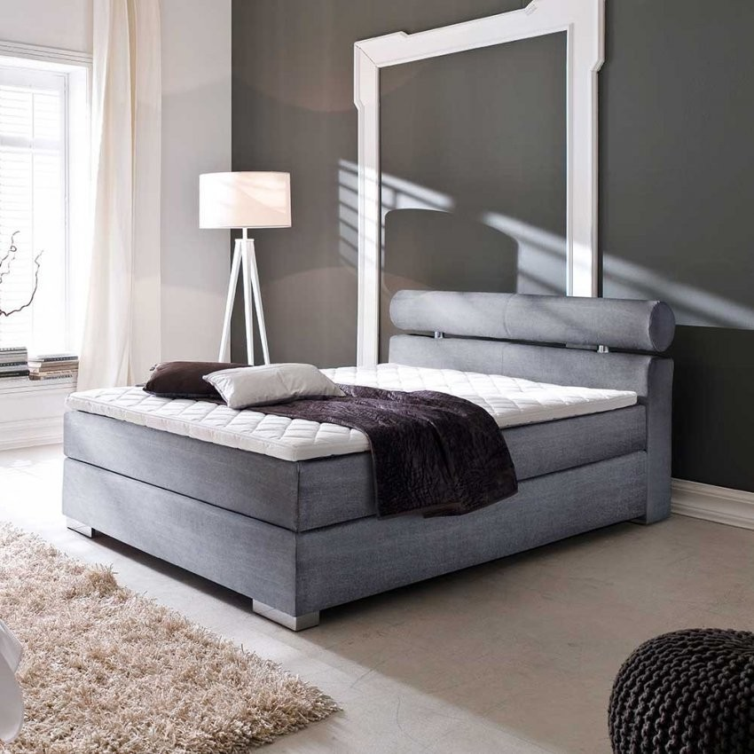 Boxspringbett Salma In Grau 140X200  Pharao24 von Boxspringbett Günstig 140X200 Photo