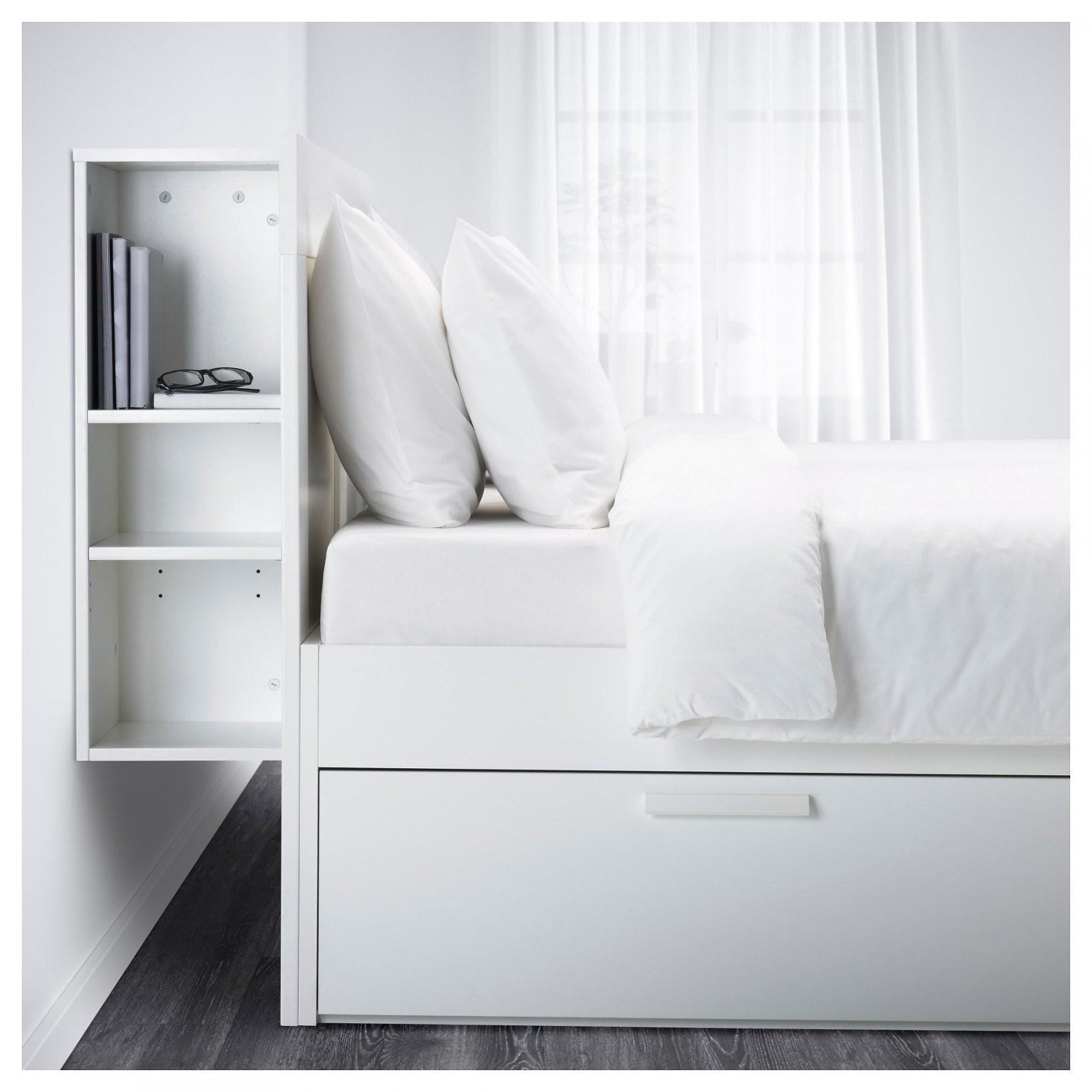 Brimnes Bedframe Met Opberger En Bedeinde  140X200 Cm  Wit  Ikea von Ikea Brimnes Bett 180X200 Bild