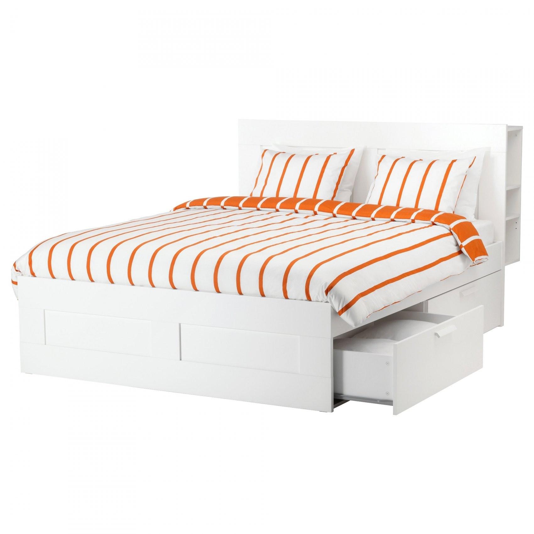 Brimnes Bedframe Met Opberger En Bedeinde  140X200 Cm  Wit  Ikea von Ikea Brimnes Bett 180X200 Photo