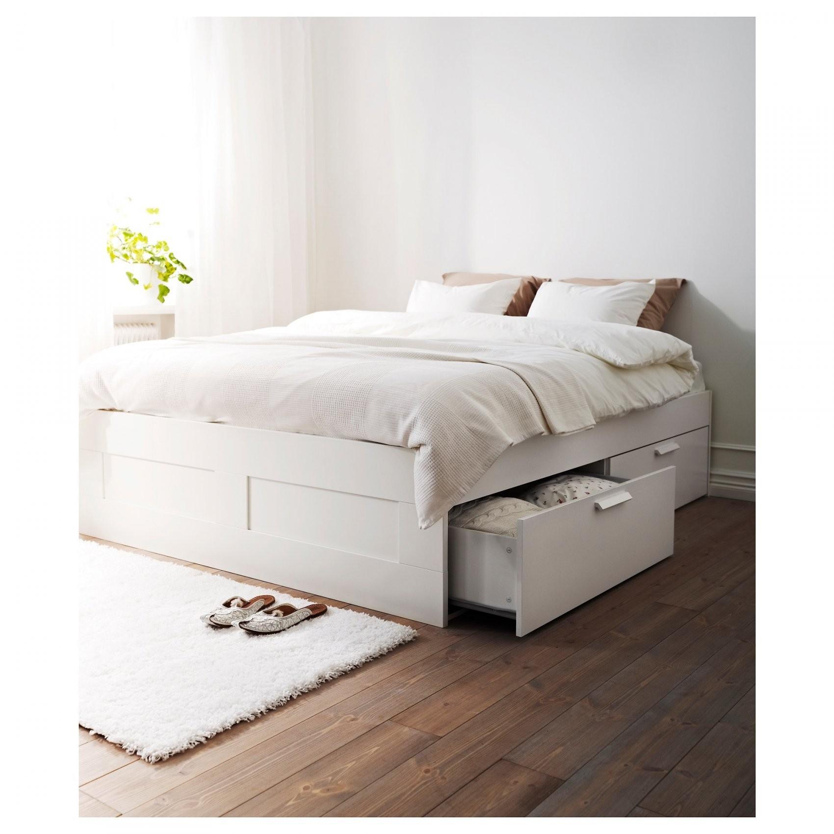 Brimnes Bedframe Met Opberglades  160X200 Cm  Wit  Ikea von Ikea Bettgestell 160X200 Bild