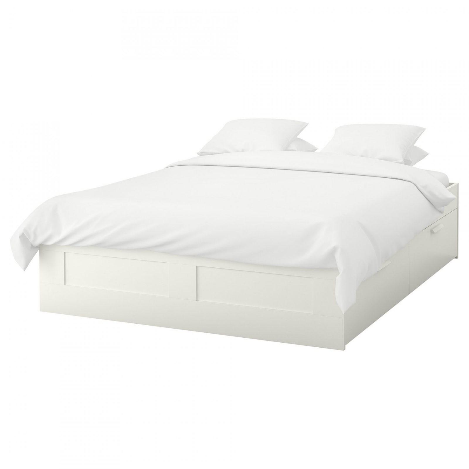 Brimnes Bedframe Met Opberglades  160X200 Cm  Wit  Ikea von Ikea Brimnes Bett 140X200 Bild