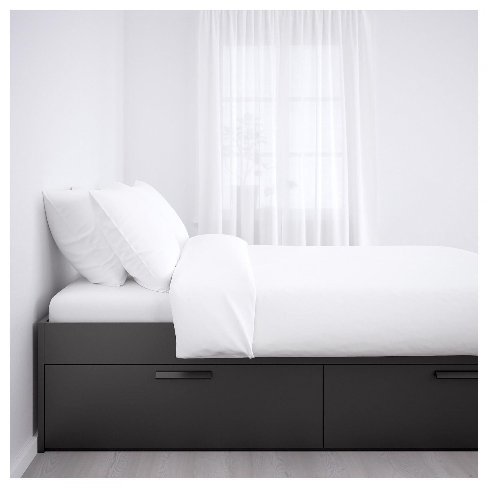 Brimnes Bedframe Met Opberglades  180X200 Cm Lönset Wit  Ikea von Ikea Brimnes Bett 180X200 Photo