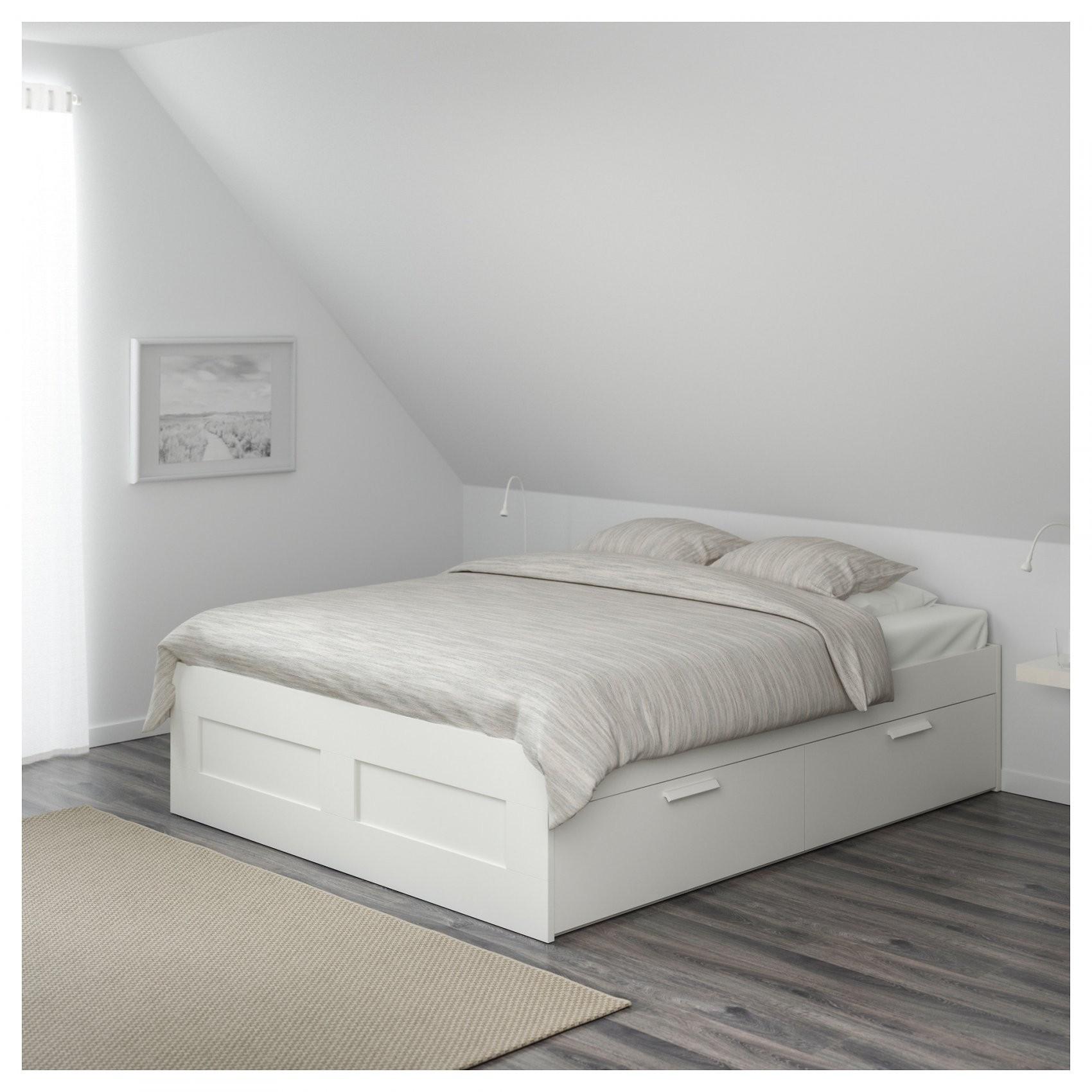 Brimnes Bedframe Met Opberglades Wit 160 X 200 Cm  Ikea von Ikea Brimnes Bett 180X200 Bild