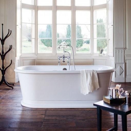 Casa Padrino Badewanne Freistehend 1800Mm Blonr Weiß  Freistehende von Retro Badewanne Freistehend Bild