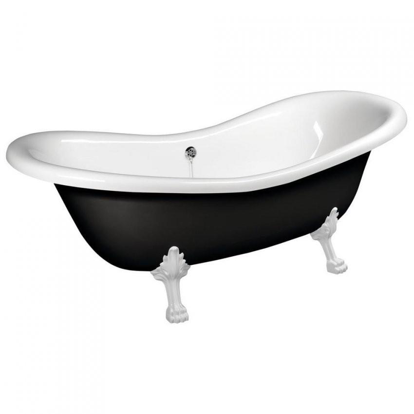 Charleston Freistehende Badewanne Schwarzweiß 188X80X71Cm Füße Weiß von Freistehende Badewanne Schwarz Photo