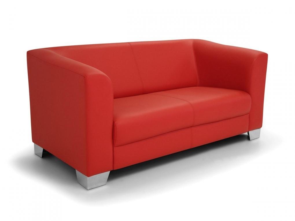 Chicago Sofa Couch 2Sitzer Rot Rouge Kunstleder Kunstledercouch 2 von 2 Sitzer Sofa Rot Bild