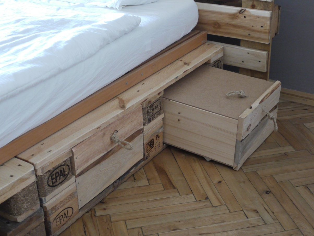 Das Diy Schlafzimmer  Designfeverblog von Bett Selber Bauen Mit Schubladen Photo