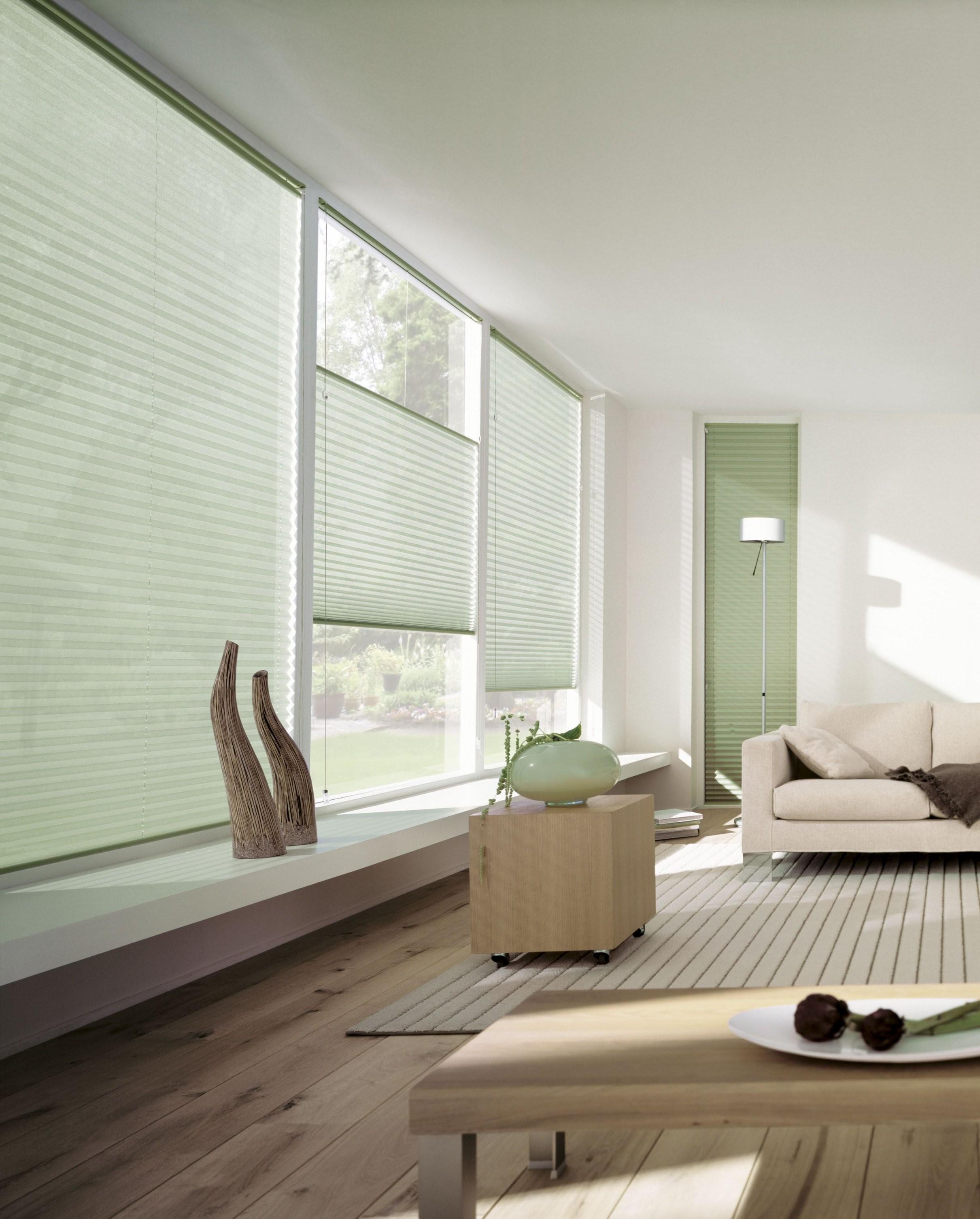 Dekorativer Sonnenschutz Für Den Innenbereich Fensterschmidinger von Rollos Für Große Fenster Photo