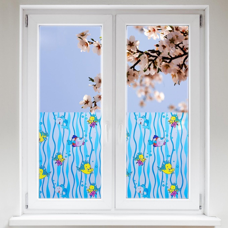 Dekorfolien Badezimmer  Delfin  Dayton von Fensterfolie Sichtschutz Bad Photo