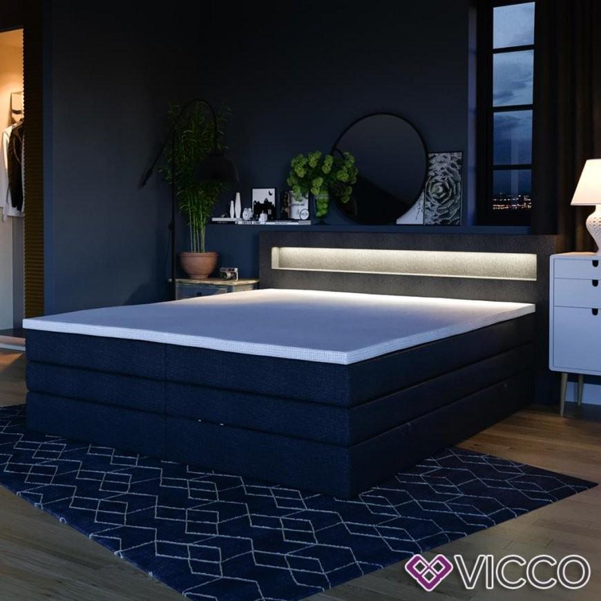 Design Boxspringbett Mit Bettkasten Led Doppelbett  Real von Led Bett 180X200 Bild