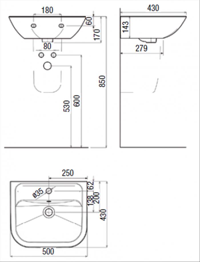 Design & Komfort Pur Optiset Keramiken  Richter + Frenzel von Standardhöhe Waschbecken Bad Photo