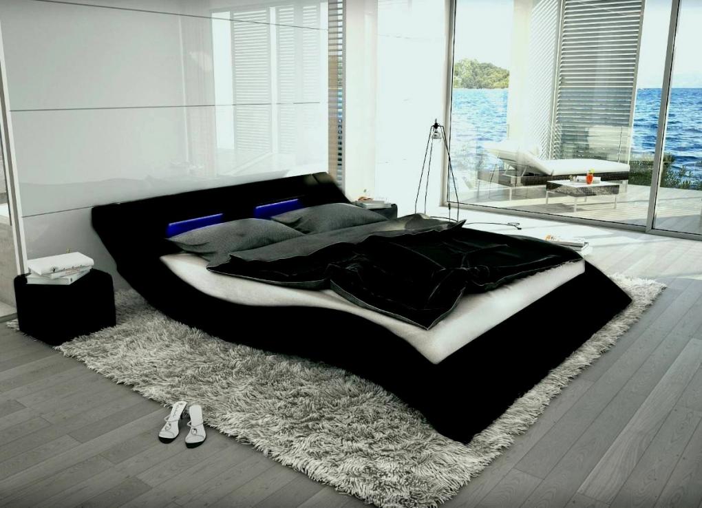 Designer Bett 140X200 Salesfever Polsterbett X Cm Wei Aus von Bett Mit Led Beleuchtung 140X200 Bild