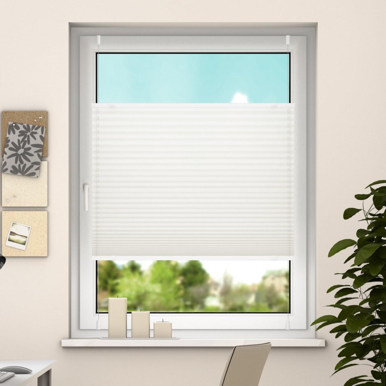 Deswin Klemmfix Plissee Fenster Türtüren Faltrollo Ohne Bohren 100 von Plissee Rollos Für Fenster Bild