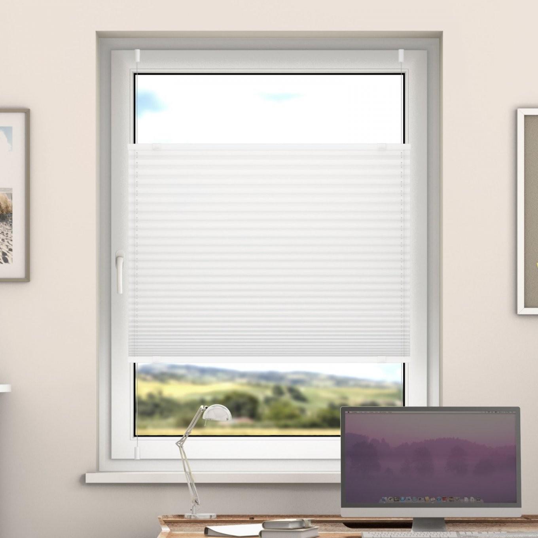 Deswin Klemmfix Plissee Fenster & Türtüren Faltrollo Ohne Bohren von Rollos Für Fenster Ohne Bohren Bild