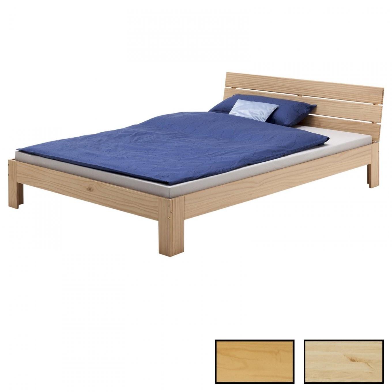 Doppelbett 140 X 200 Cm In Versch Farben  Caromöbel von Stabiles Bett 140X200 Bild