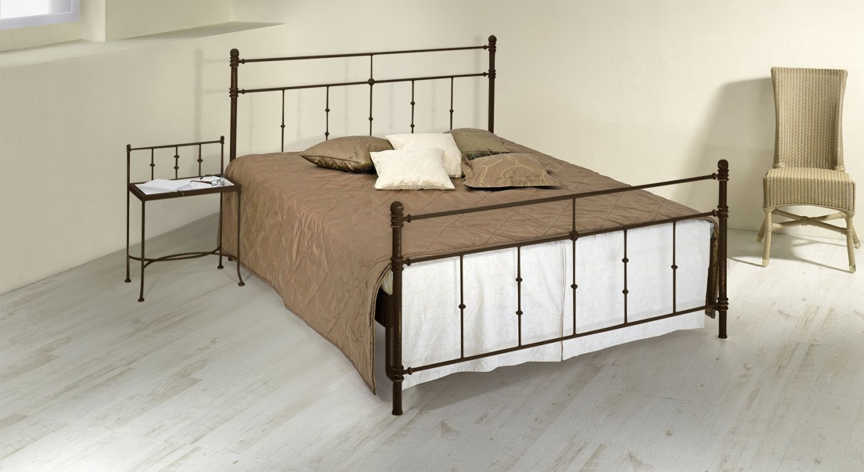 Doppelbett Aus Metall 180X200 In Komforthöhe  Astara von Bett 180X200 Metall Bild