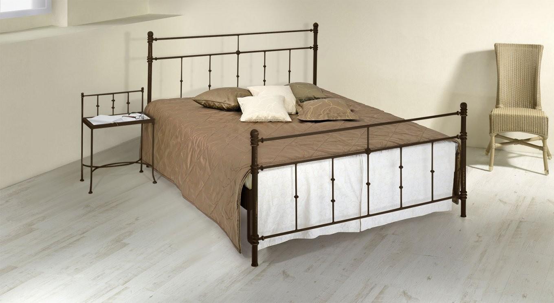 Doppelbett Aus Metall 180X200 In Komforthöhe  Astara von Bett Metall Weiß 180X200 Bild