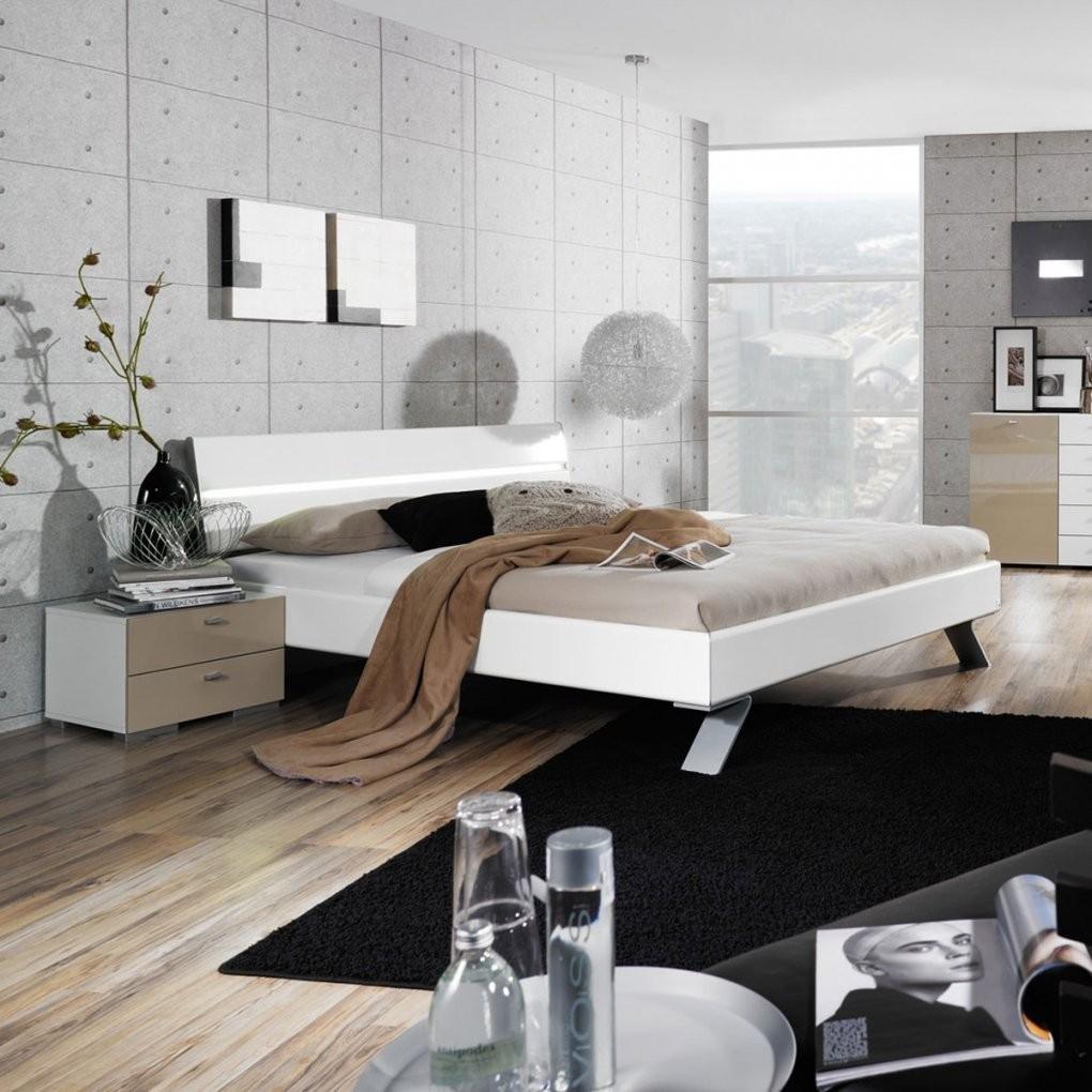 Doppelbett Bettgestell Bett 180X200 Mit 2 Nachtkonsolen Hochglanz von Bett 180X200 Weiß Hochglanz Bild