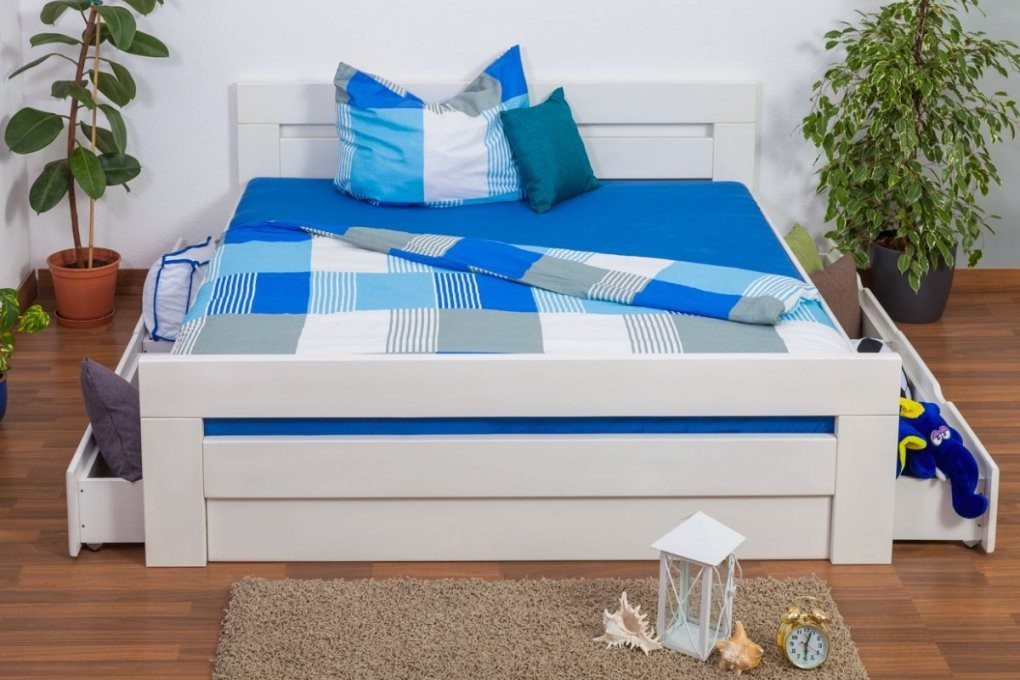 """Doppelbett  Funktionsbett """"easy Möbel"""" K6 Inkl 4 Schubladen Und 2 von Bett 180X200 Mit Schubladen Bild"""
