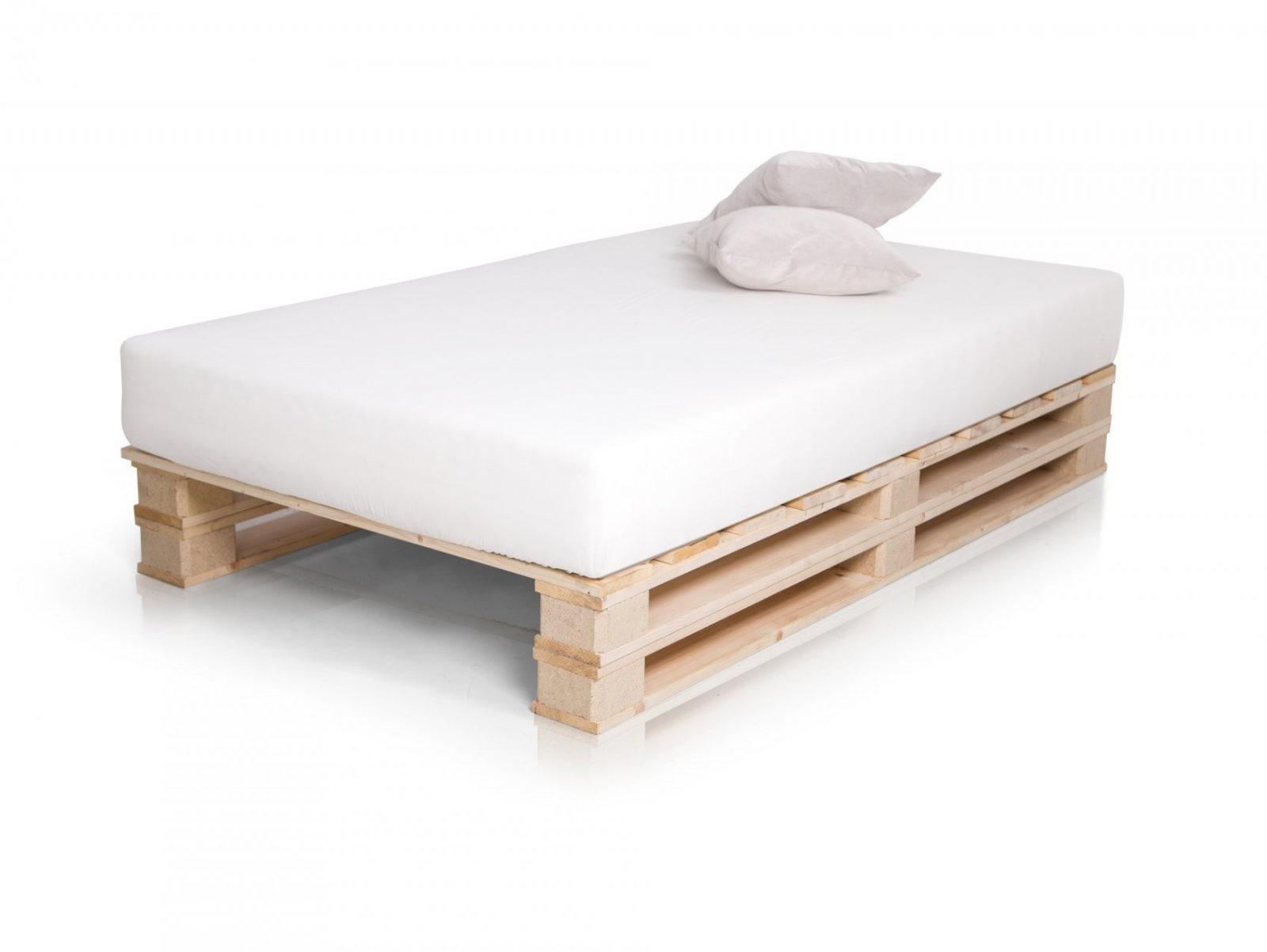 Doppelbett Holzbett Palettenbett Bett 120X200 Cm Jugendbett Paletti von Paletten Bett 120X200 Bild