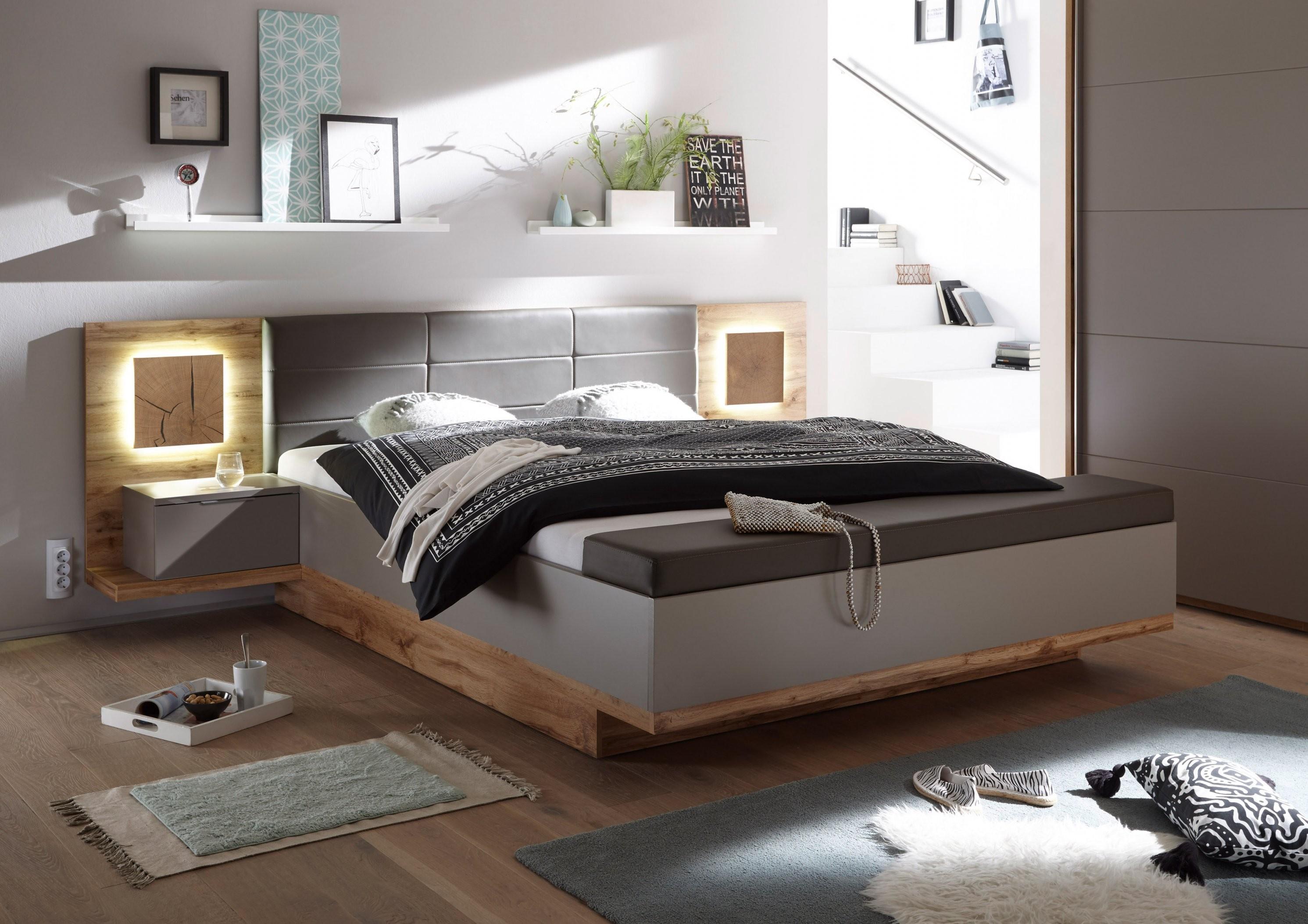 Doppelbett Nachtkommoden Capri Xl Bett Ehebett Schlafzimmer 180X200 von Bett 180X200 Grau Bild